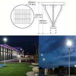 Solar LED Post Top Light 25W IP65 5000K with 3,000Lm Black Finish (14)