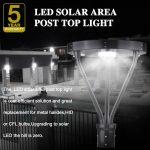 Solar LED Post Top Light 25W IP65 5000K with 3,000Lm Black Finish (15)