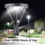 Solar LED Post Top Light 25W IP65 5000K with 3,000Lm Black Finish (18)