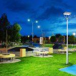 200 Watt LED Post Top Area Light Fixtures 5000K 26,000 Lumens (4)