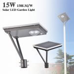 20W LED Solar Outdoor Solar Post Lights 5000K 3,000LM (10)