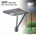 20W LED Solar Outdoor Solar Post Lights 5000K 3,000LM (11)