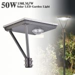 20W LED Solar Outdoor Solar Post Lights 5000K 3,000LM (14)