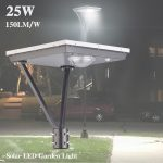 20W LED Solar Outdoor Solar Post Lights 5000K 3,000LM (16)