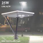 25 Watt LED Solar Garden Lights Landscape 5000K 3,750LM (16)